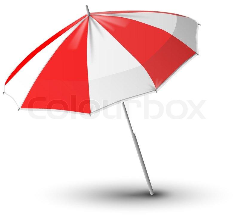 Sonnenschirm grafik  Vector illustration of beach umbrella   Stock Vector   Colourbox