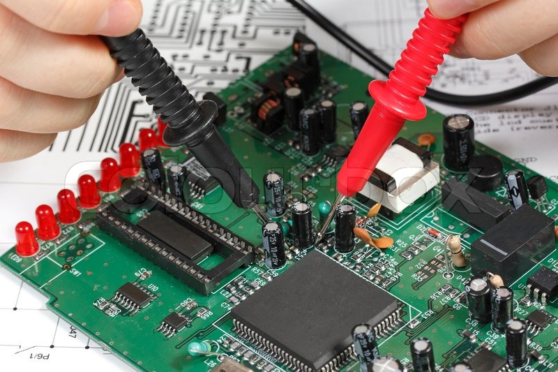 repair and diagnostic of electronic circuit board stock photo rh colourbox com Circuit Board Repair how to repair electronic circuits pdf