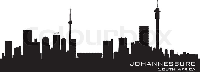 Johannesburg south africa skyline detailed silhouette vector johannesburg south africa skyline detailed silhouette vector illustration vector thecheapjerseys Images