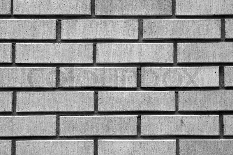 Brick wall. Black and white shot, stock photo