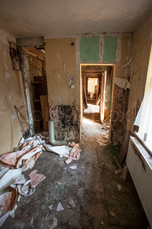Interior of an old abandoned and rundown apartment | Stock ...