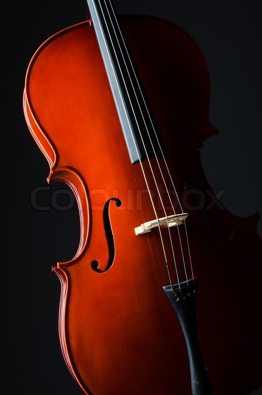 Violin On The Black Background Stock Image Colourbox