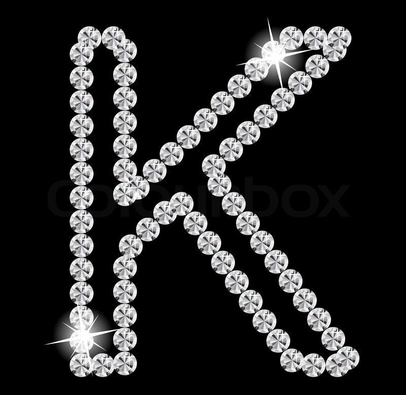 diamant alphabet vektorillustration vektorgrafik
