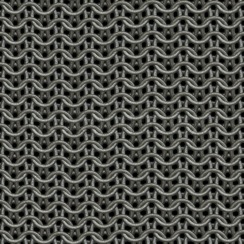seamless computer generated metal chain mail texture close
