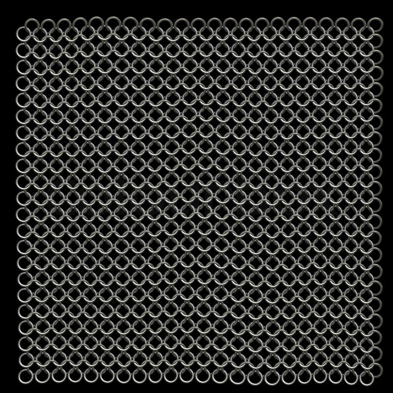 computer generated metal chain mail texture stock photo