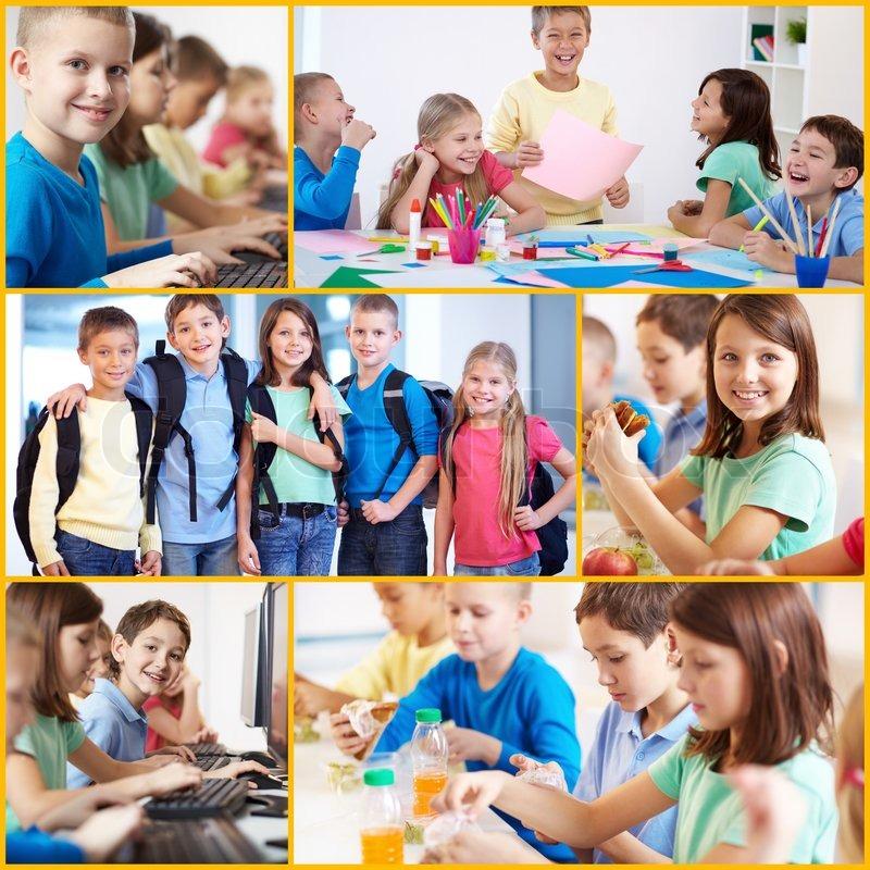 Skolekammerater Stock Foto Colourbox
