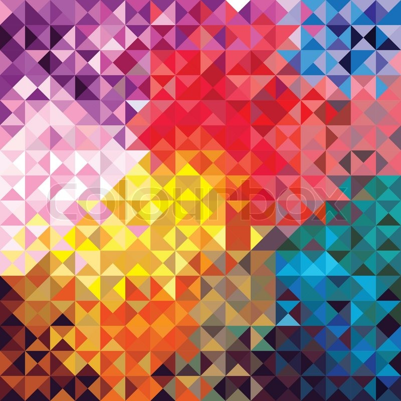 Retro seamless pattern of geometric shapes Colorful