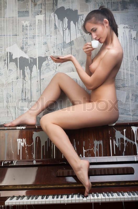 Not pleasant Girls naked drinking coffee are