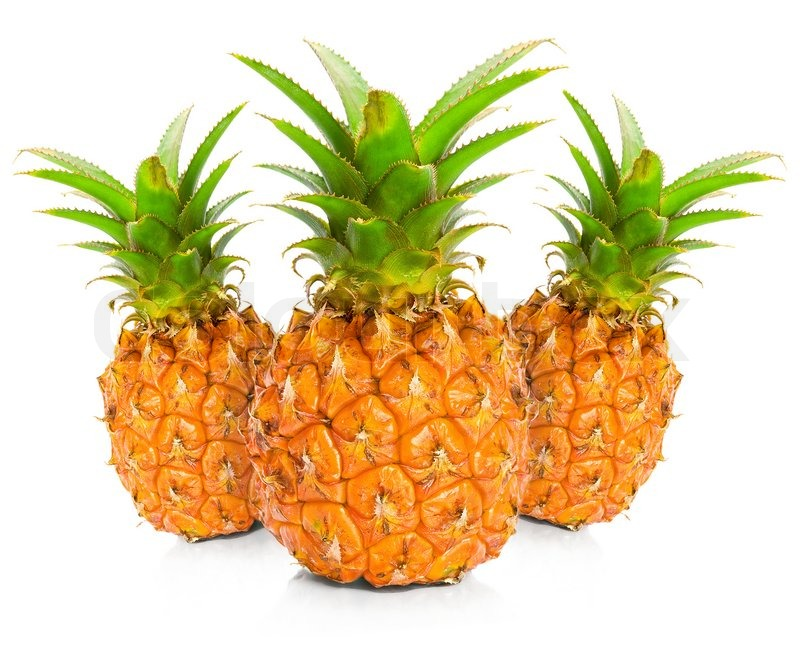 Stock image of 'Pineapple on white background'