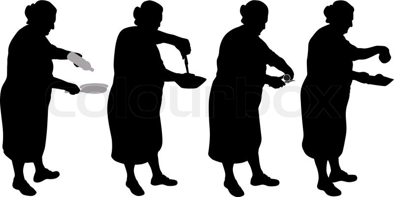 Food Silhouette Vector