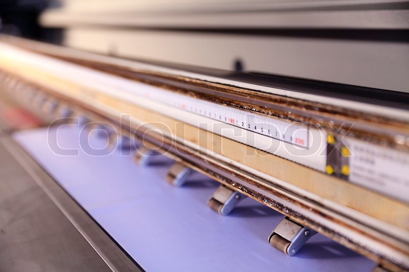 Large format outdoor ink jet printer, stock photo