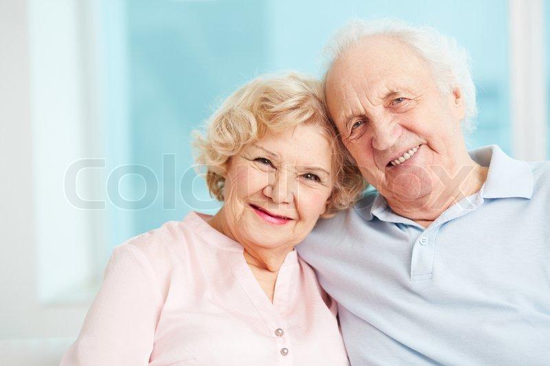 Portrait of a candid senior couple enjoying their retirement, stock photo