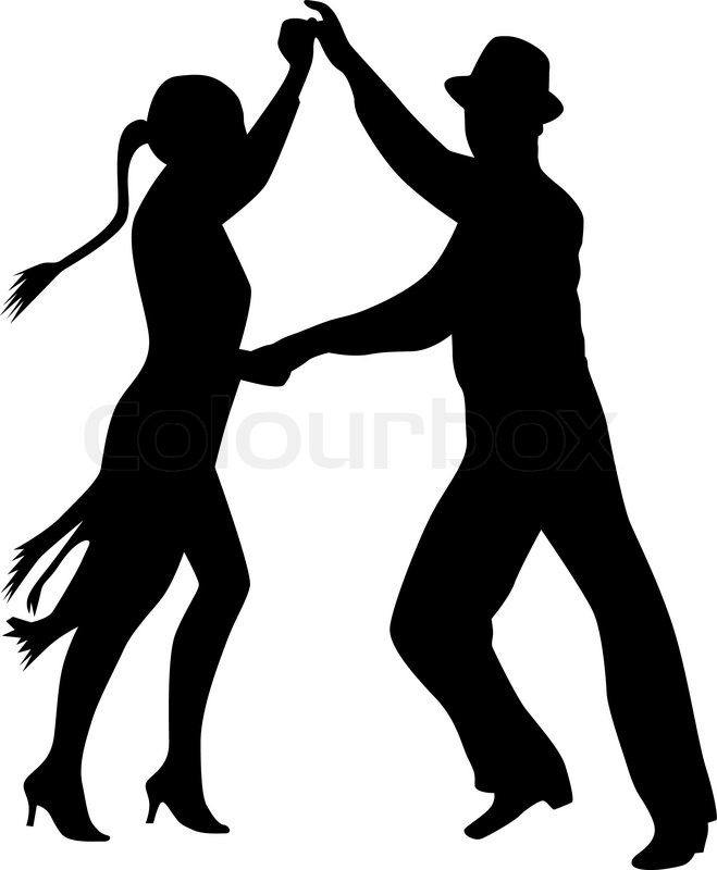 dance people silhouette vector stock vector colourbox rh colourbox com silhouette danse couple vector dancer silhouette vector