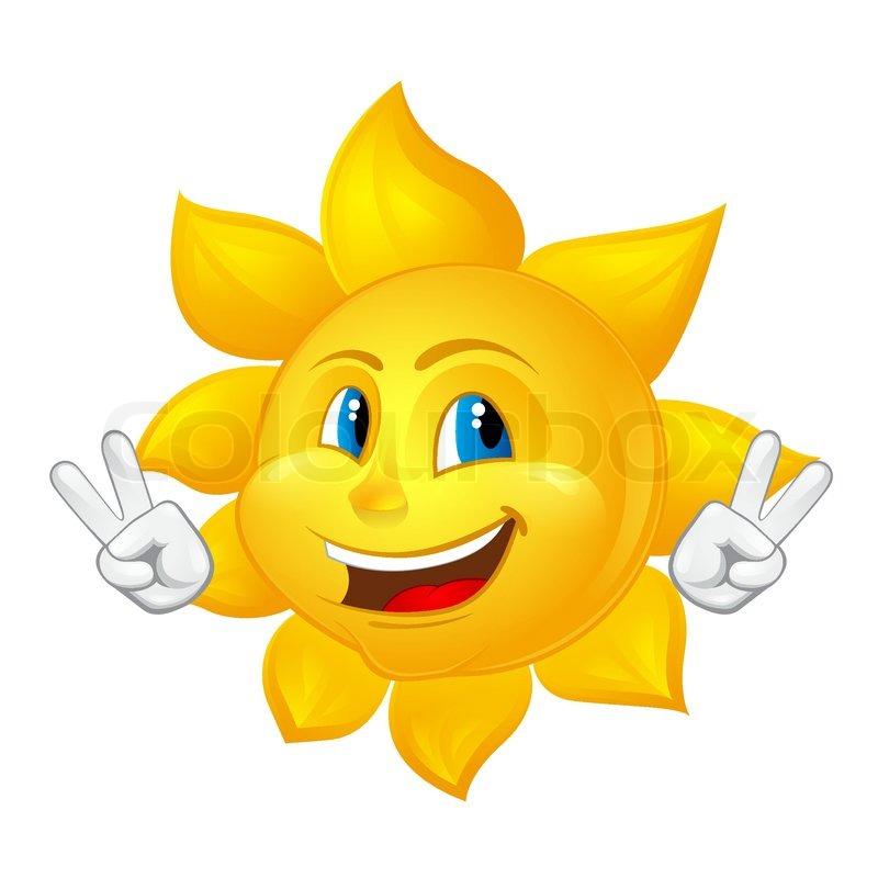 blue-eyed smiling sun | stock vector | colourbox