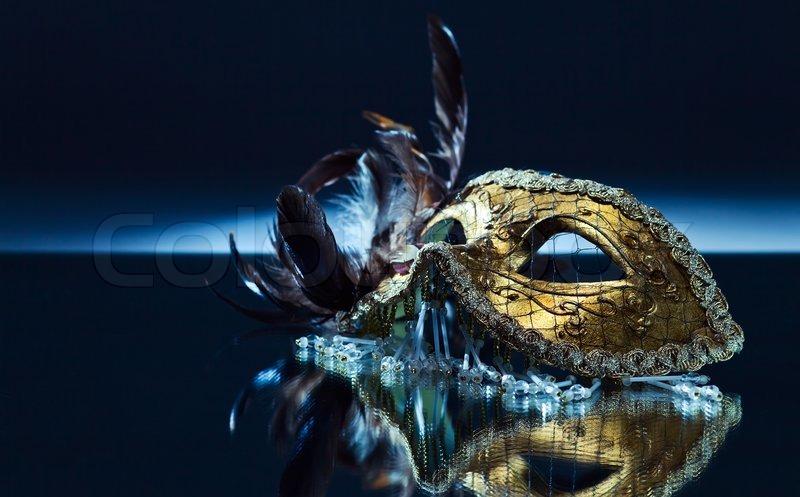 venezianische maske mit federn stock foto colourbox. Black Bedroom Furniture Sets. Home Design Ideas