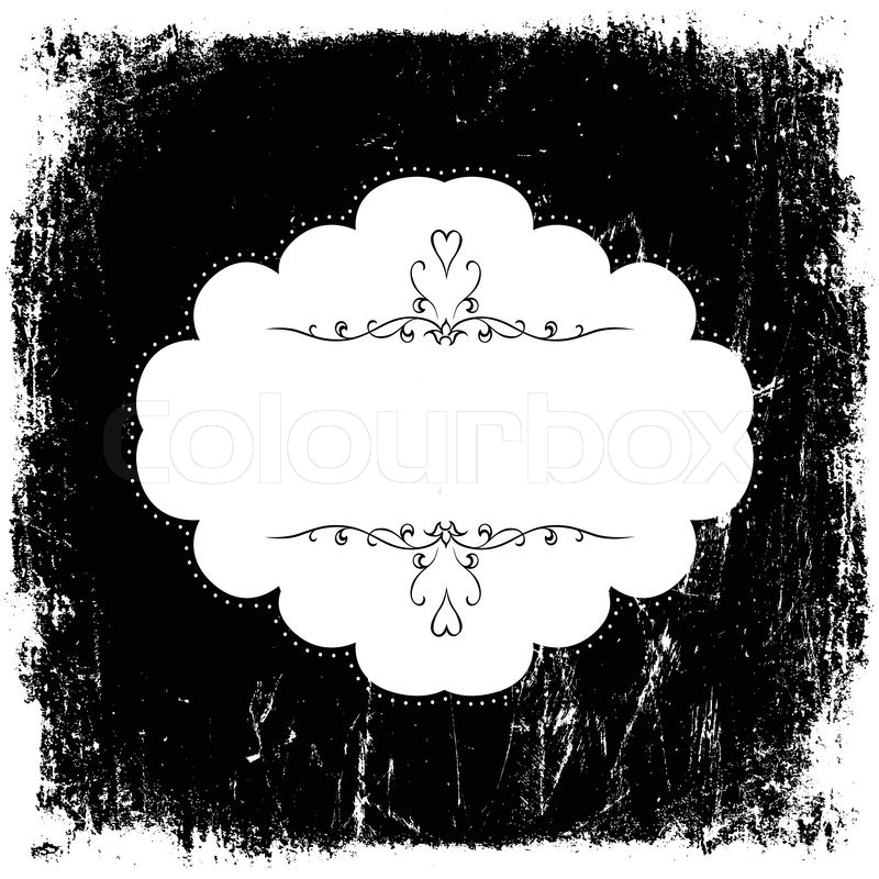 Vintage grunge black and white card template Vector | Stock Vector ...