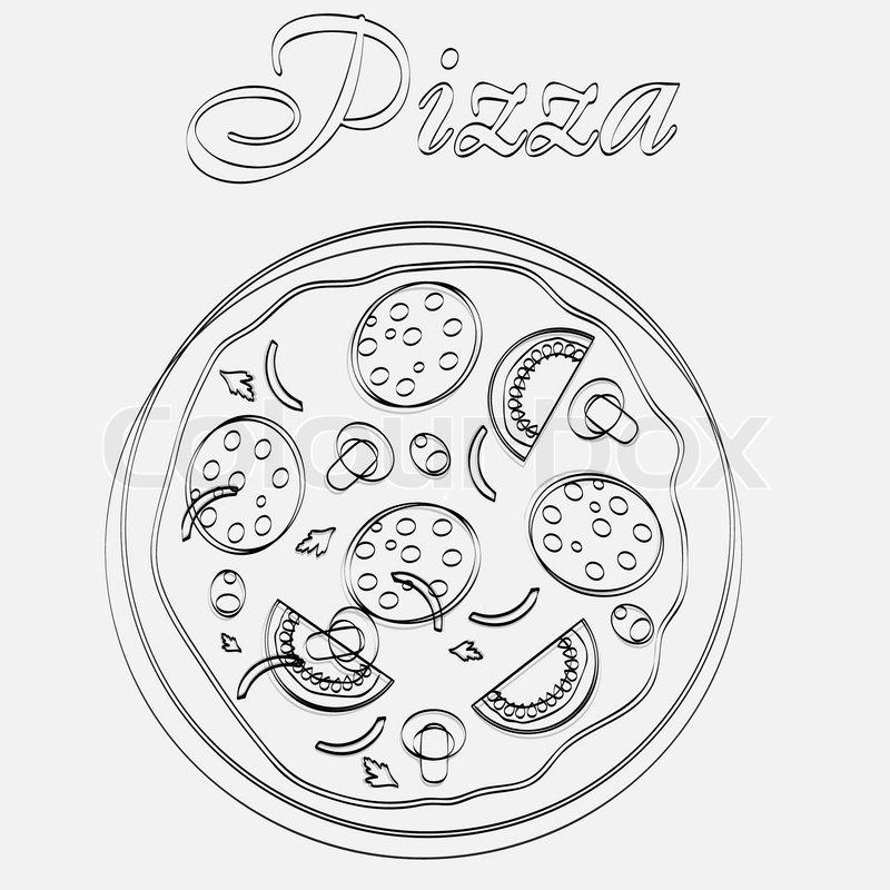 Pizza -Menü Vorlage Vektor-Illustration | Vektorgrafik | Colourbox