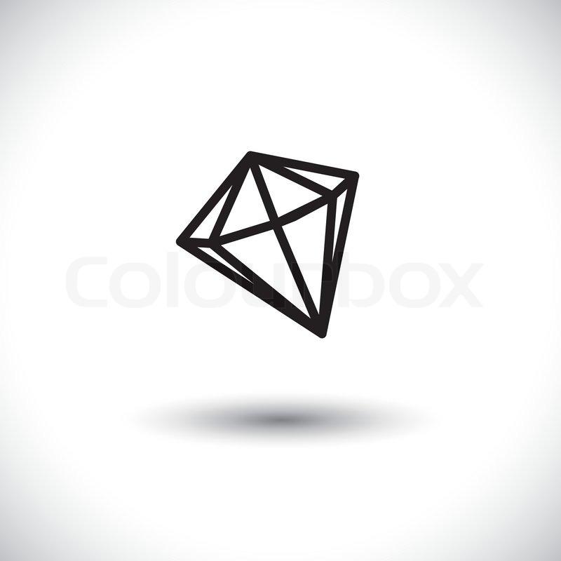 schwarz wei skizze eines diamant stein vektor grafik juwel vektorgrafik colourbox. Black Bedroom Furniture Sets. Home Design Ideas