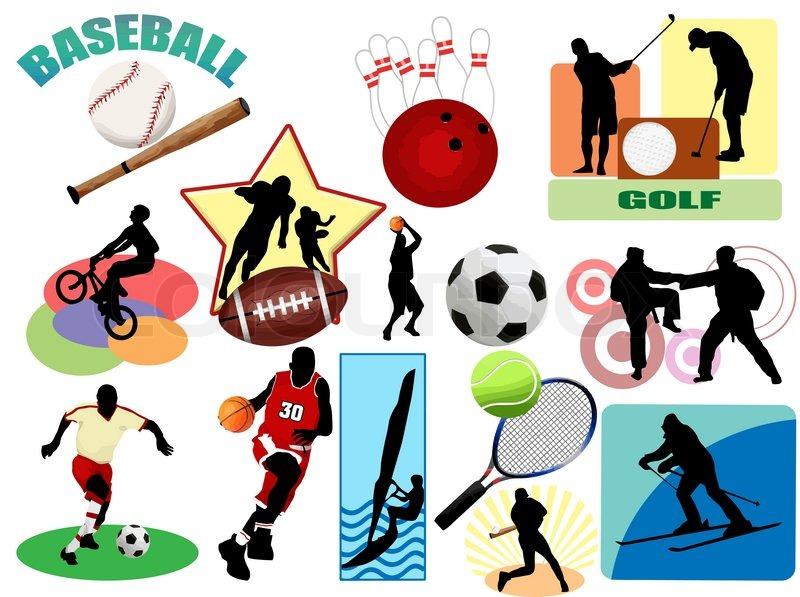Sport ikoner og symboler | stock vektor | Colourbox
