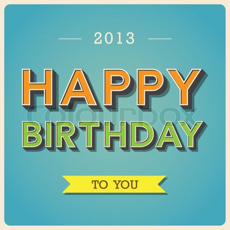 Happy Birthday Retro Images Happy Birthday Retro Poster