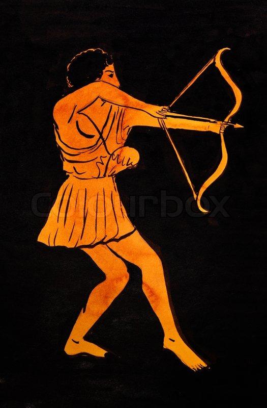 Ancient Greek archer   Stock Photo