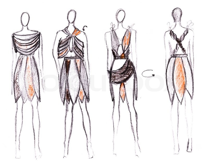 development of summer dresses in native style stock