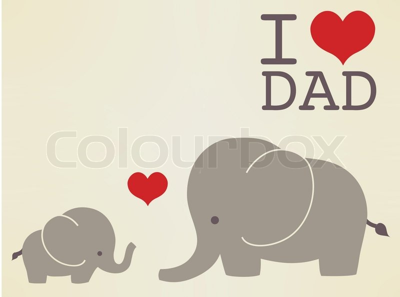 happy fathers day card vector file eps10 stock vector colourbox