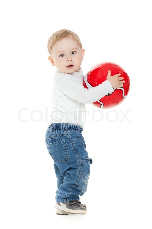 Kid Play Ball Alone