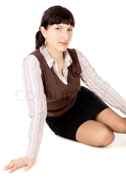 Eine schöne junge sexy schwarzhaarige  | Stock Bild