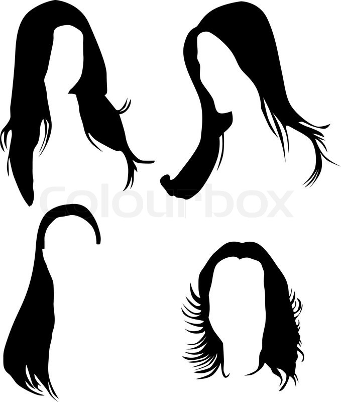 Women hair silhouette vector | Stock Vector | Colourbox