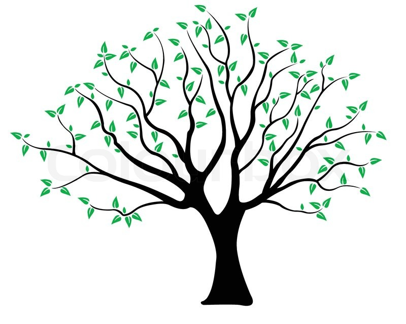 Tr greeneps stock vektor colourbox for Friendship tree template