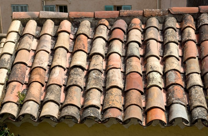 Gamle tagsten stock foto colourbox for Mediterranean roof styles