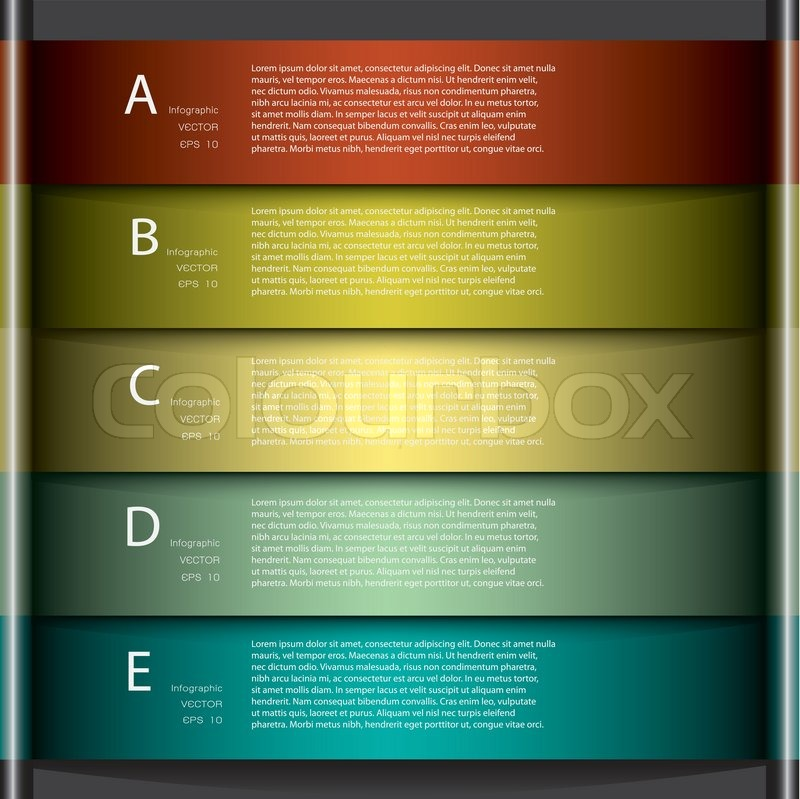 modern design template can be used for infographics numbered