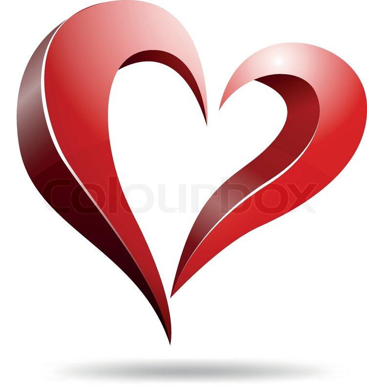 vector illustration of logo heart shape design stock vector
