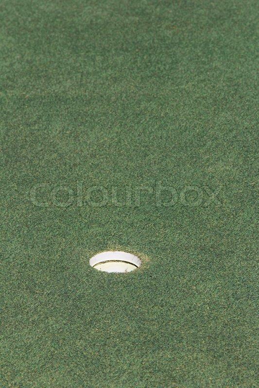 Golf hole, stock photo