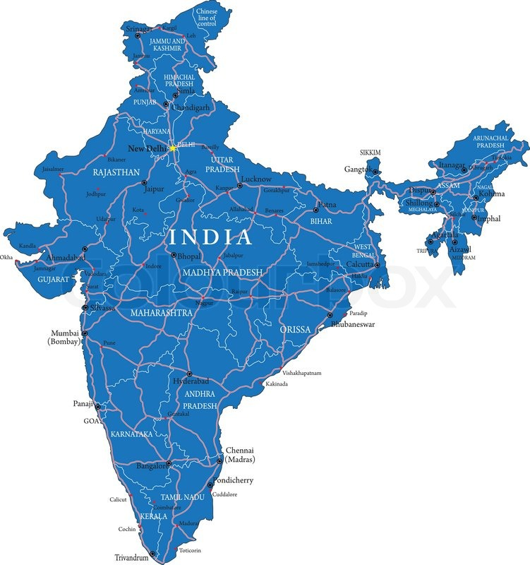 India map India political map Stock