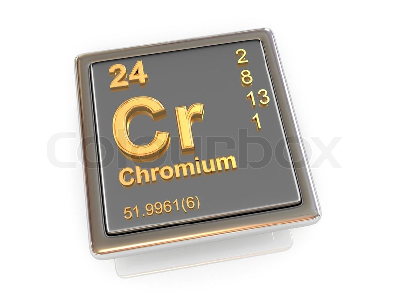 Chromium Chemical Element Stock Photo Colourbox