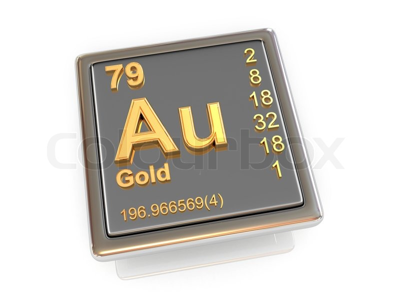 Gold Chemical Element Stock Photo Colourbox