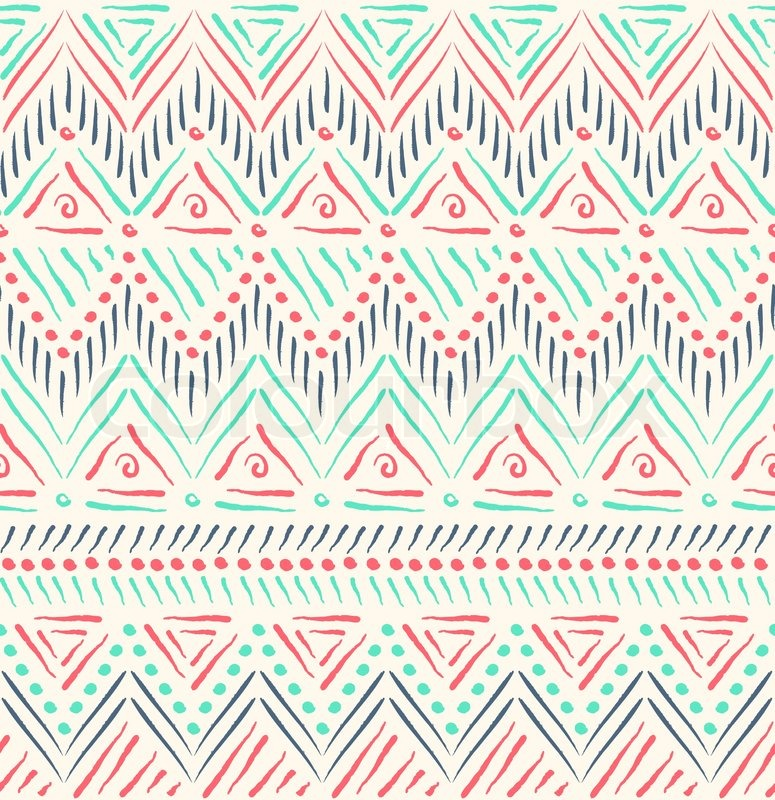 tribal ethnischen nahtlose muster vektorgrafik colourbox. Black Bedroom Furniture Sets. Home Design Ideas