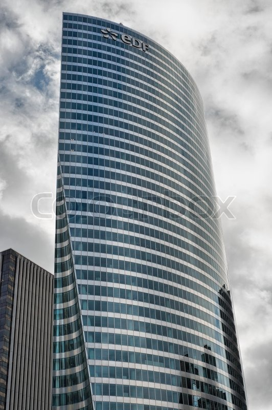 PARIS - DEC 1: Afternoon view of the major business district, La Defense,in the western part of Paris, France on December 1 2012. Here are many of the Paris urban area\'s tallest high-rises, stock photo
