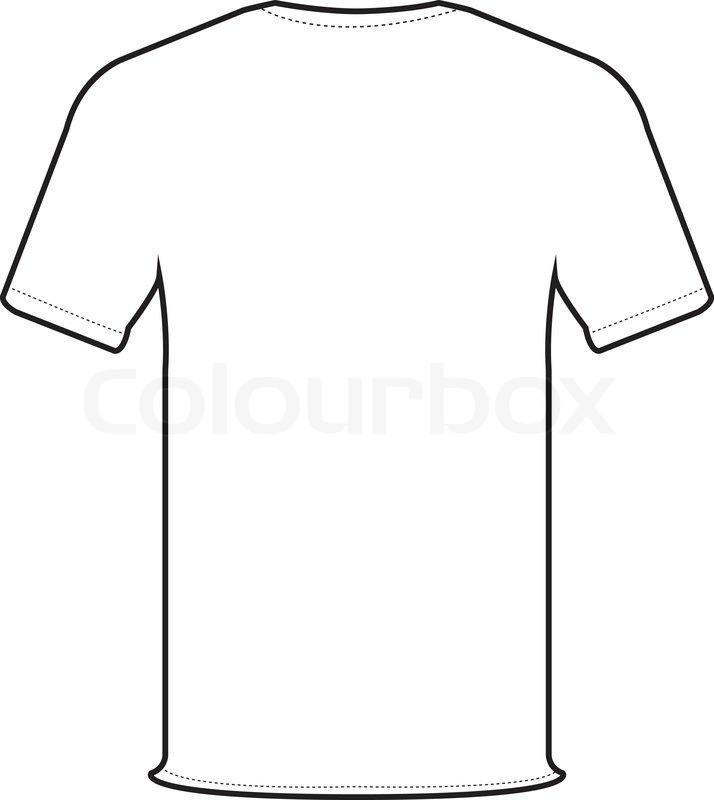 Back t-shirt vector | Stock Vector | Colourbox