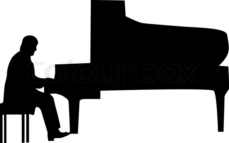 Pianist silhouette vector | Stock Vector | Colourbox