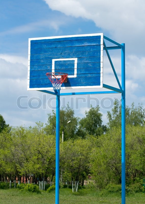 Outdoor basketball court, stock photo