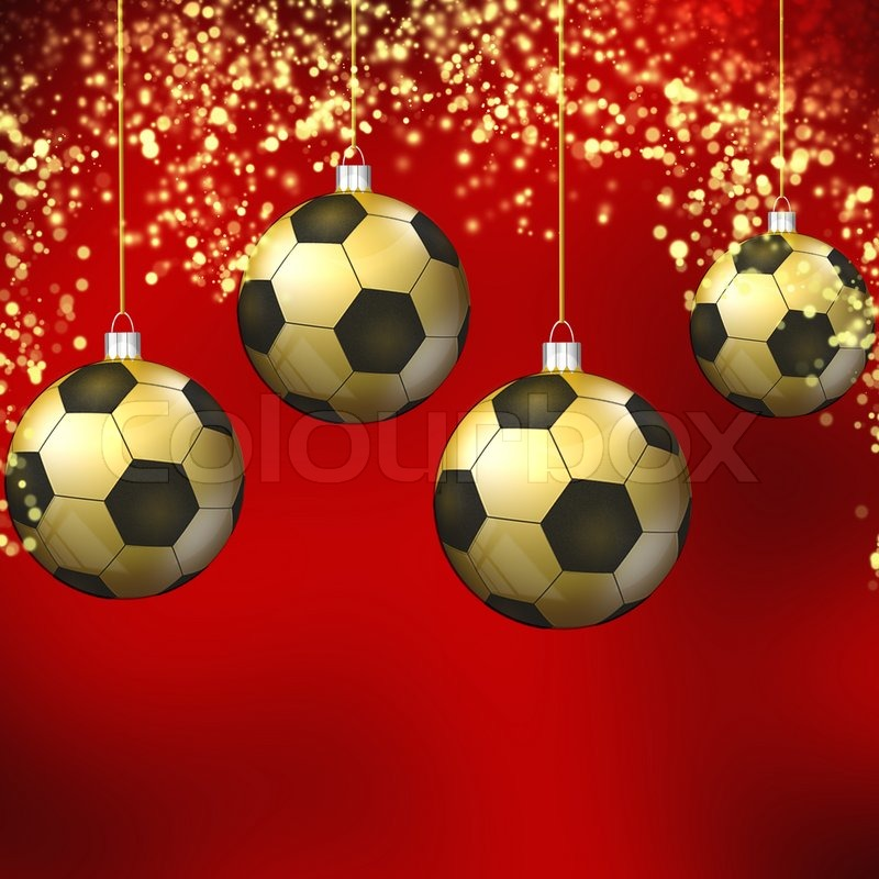 fussball weihnachten hollyday hintergrund stockfoto