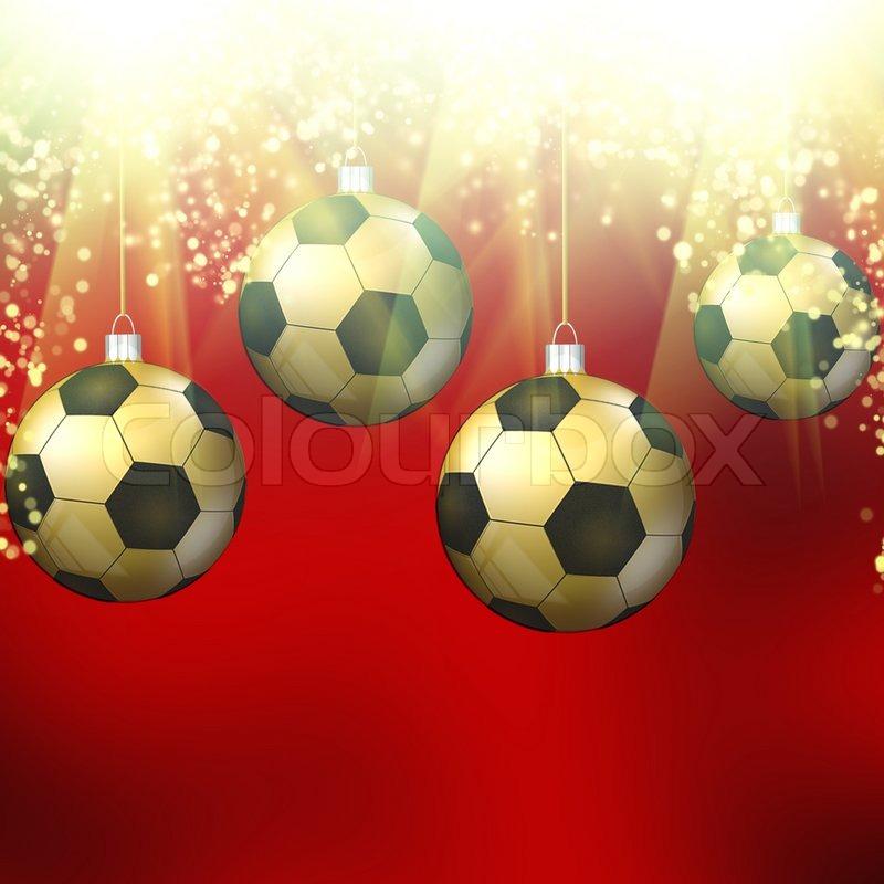 Fussball Weihnachten Hollyday Stock Bild Colourbox