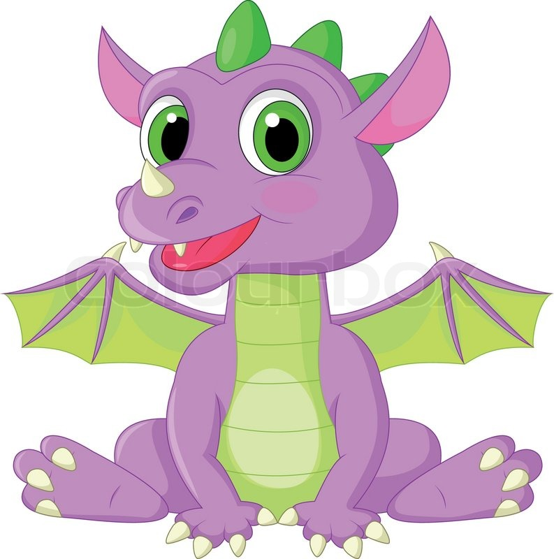 Vector illustration of cute baby dragon cartoon stock vector stock vector of vector illustration of cute baby dragon cartoon voltagebd Image collections