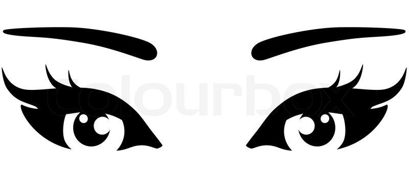 beautiful woman eyes on white background stock vector colourbox rh colourbox com vector eyelashes vector eye silhouette