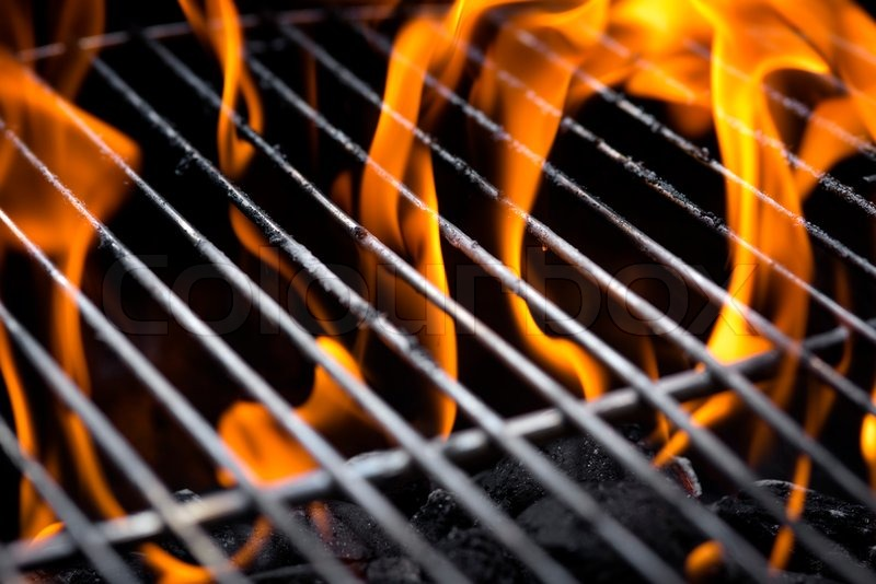Grill flame | Stock image | Colourbox