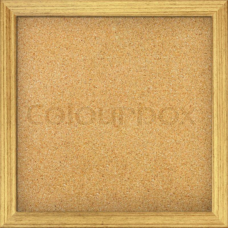 Leeres Büro Kork Brett mit Holzrahmen | Stockfoto | Colourbox