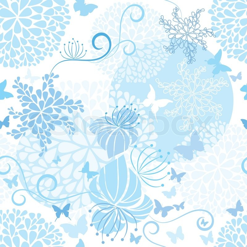 Light Blue floral seamless pattern | Stock Vector | Colourbox
